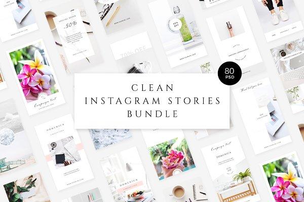 Clean Instagram Stories Bundle