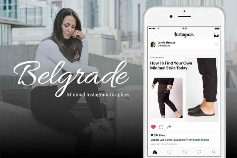 Belgrade 50 Minimal Instagram Graphics
