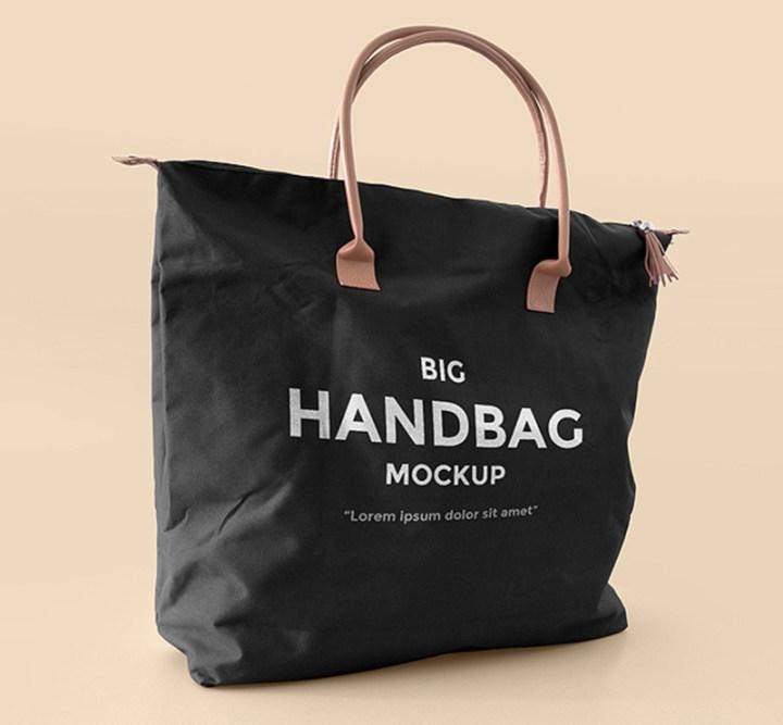 great handbag shopping bag mockup design free psd