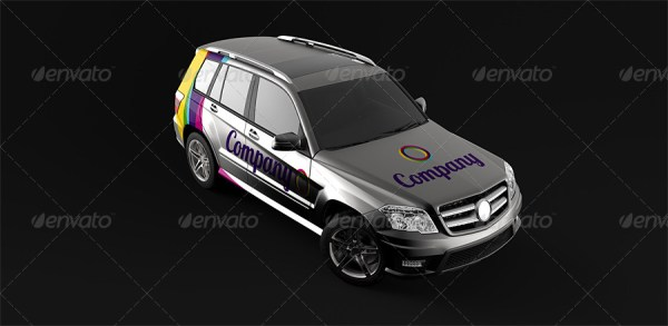 Car Branding Mockup (SUV)