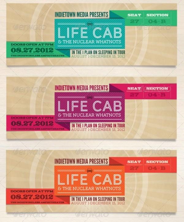 Concert Tickets Template