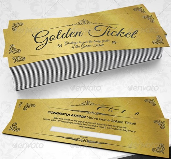 Elegant Golden Tickets Template