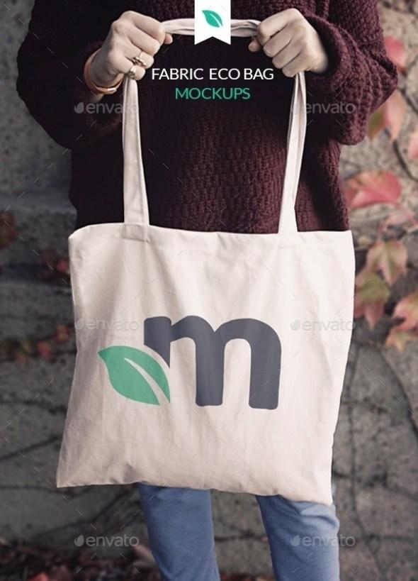 Fabric Eco Bag Mockups