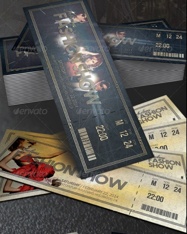 Fabulous Fashion Show Event Tickets Template