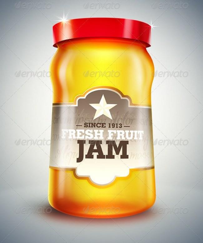 Glass Jar Mockup / Cartoon Design