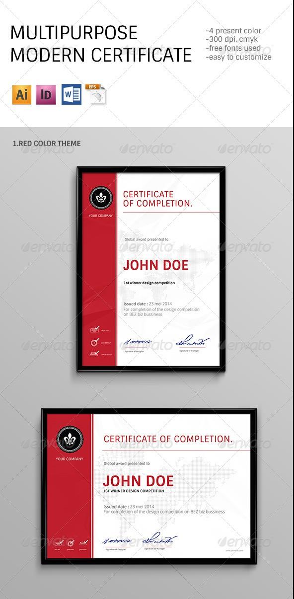 Modern Multipurpose Certificates Templates