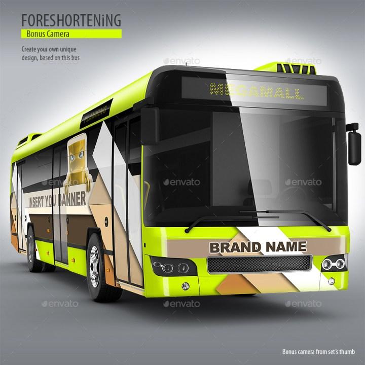 Passenger Bus, Coach Bus Mockup