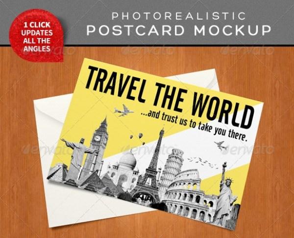 Photorealistic Postcard Mockups