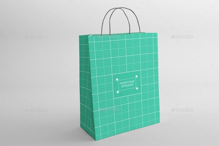 great shopping bag poly bag psd mockup
