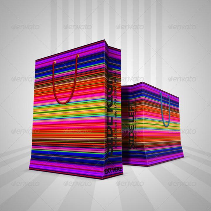 great design shopping bag psd template