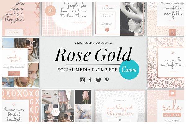 CANVA | Rose Gold Social Pack 2