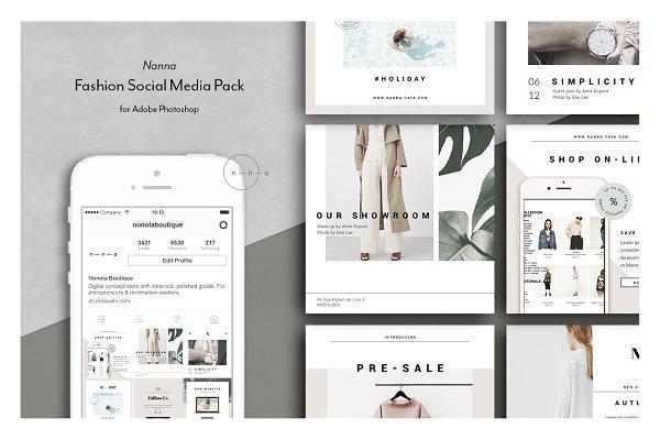 Fashion Social Media Pack • Nanna