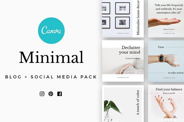 CANVA Minimal Social Media Pack