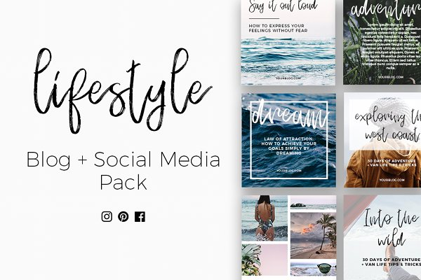 Lifestyle Blog & Social Pack