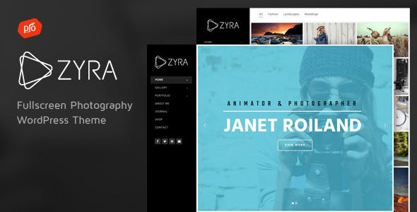 Zyra - Fullscreen Photography Theme