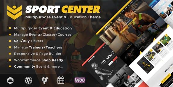 Sport Center - Multipurpose Events & Education WordPress Theme