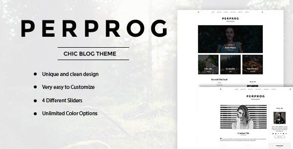 PerProg - Minimalist WordPress Blog Theme
