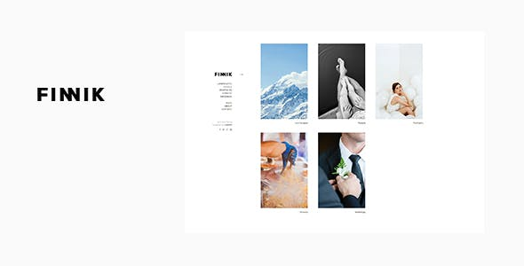 Finnik - Minimal WordPress Theme for Photographers