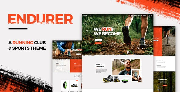 Endurer - A Running Club and Sports Theme