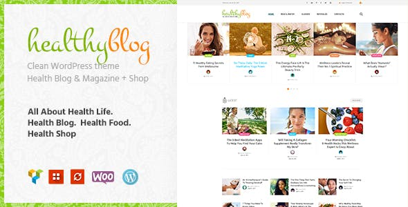 Healthy Living Blog with Online Store