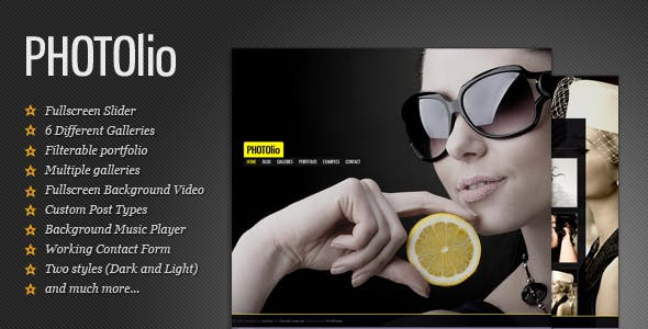 Fullscreen Photography Theme for WordPress | Photolio