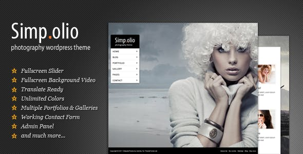 Photography WordPress Theme | Simpolio