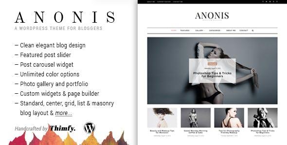 Anonis - A Responsive WordPress Blog Theme