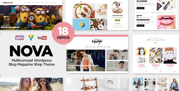 NovaBlog - Multi-Concept Blog / Magazine WordPress Theme