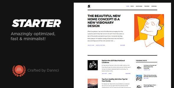 Starter - Amazingly optimized, fast & minimalist blog theme!