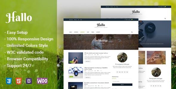 Hallo - Lifestyle A Responsive WordPress Blog Theme