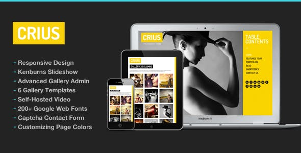 Photography WordPress | Crius for Photography