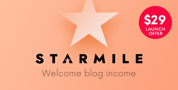 Starmile | Blog Monetization WordPress Theme