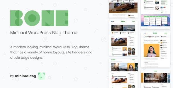 Bone - Minimal & Clean WordPress Blog Theme