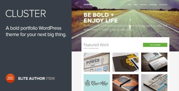 Cluster - A Bold Portfolio WordPress Theme
