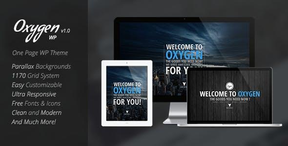 Oxygen - One Page Parallax WordPress Theme