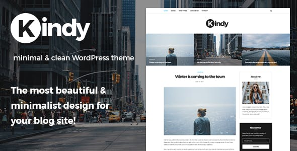 Kindy - Beautiful & Minimalist Blog WordPress Theme