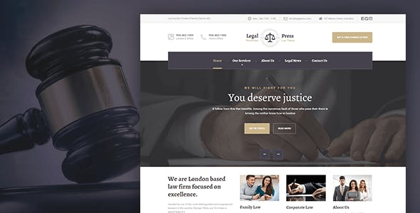 LegalPress - WordPress Theme for Lawyers, Consultants, and Financial firms
