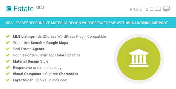 EstateMLS - Material Design Real Estate MLS Theme