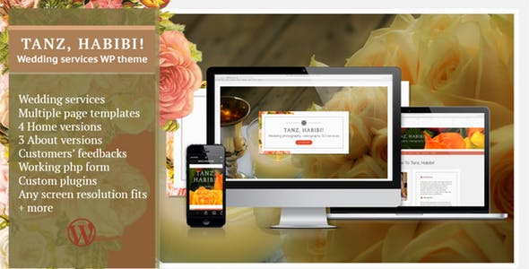 Tanz, Habibi!–Wedding Services WP theme