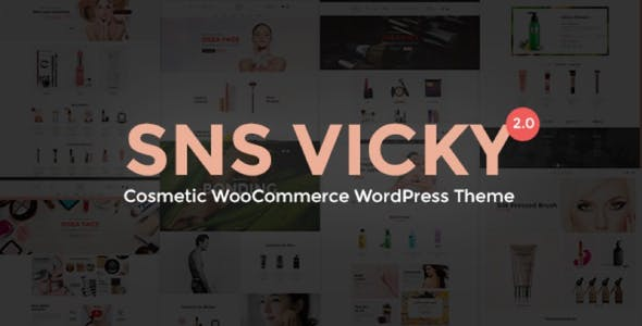 SNS Vicky - Cosmetic WooCommerce WordPress Theme