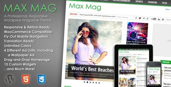 Max Mag - Responsive WordPress Magazine Theme