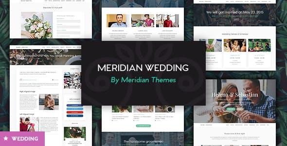 Meridian Wedding - A Beautiful Wedding WordPress Theme