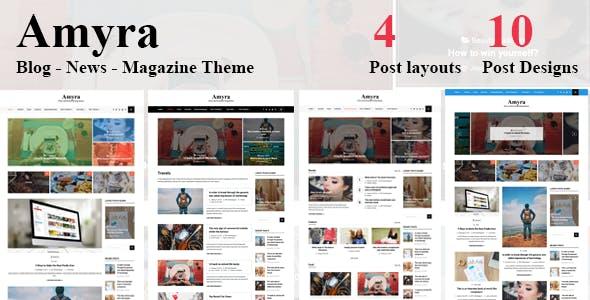 Amyra - Clean WordPress Blog/News/Magazine Theme