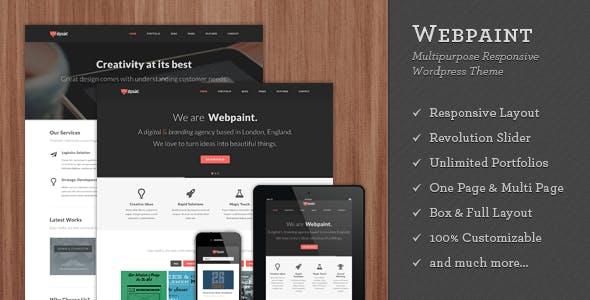 Webpaint - 2 in 1 Responsive WordPress Theme