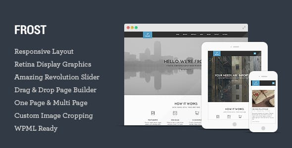 Frost - Multipurpose One Page WordPress Theme
