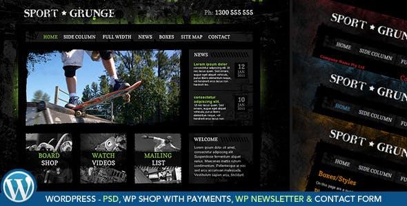 Sport Grunge WordPress Shop