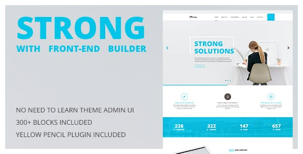 Strong - Accountant WordPress Theme