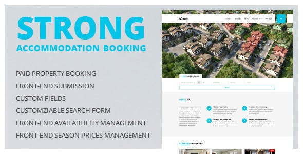 Accommodation Booking WordPress Theme - Strong