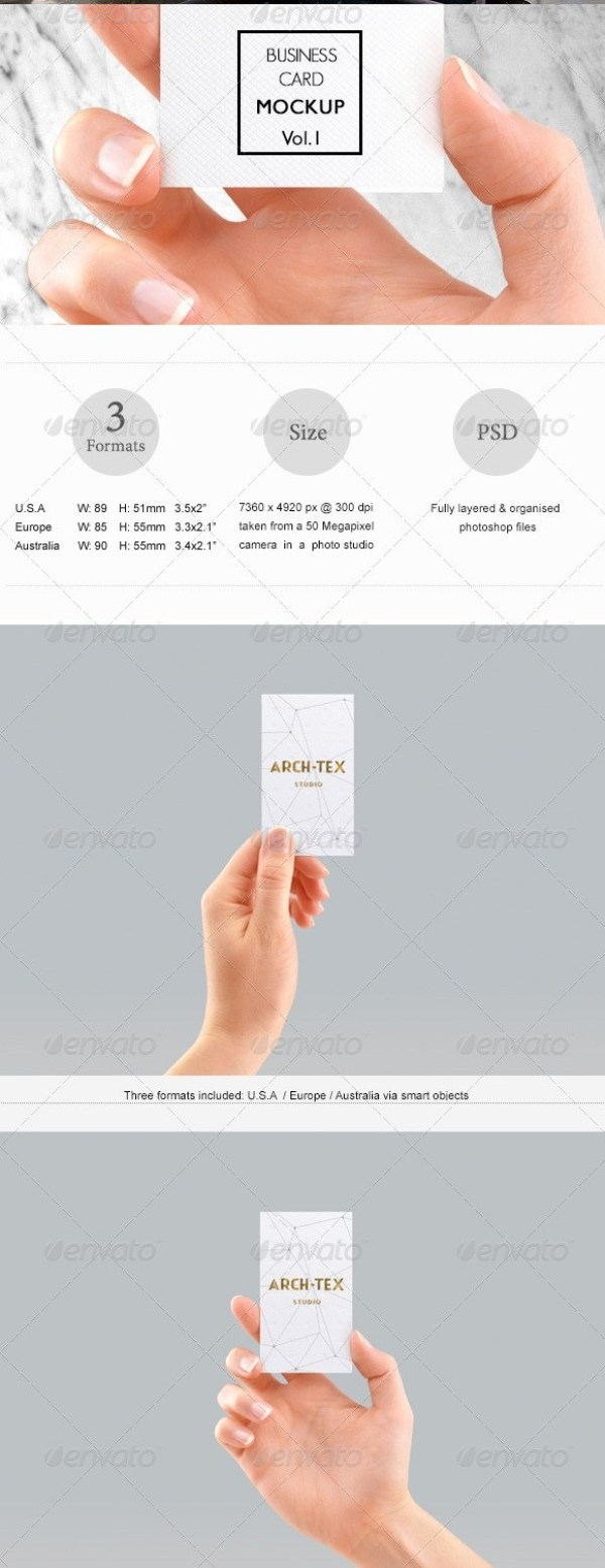 Business Card Mockup Vol.1 - Hand Edition