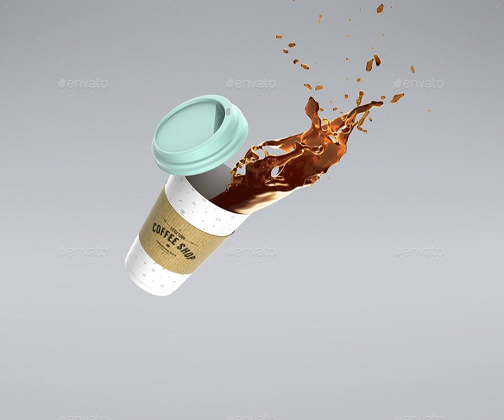 unique premium coffee cup mockup template psd